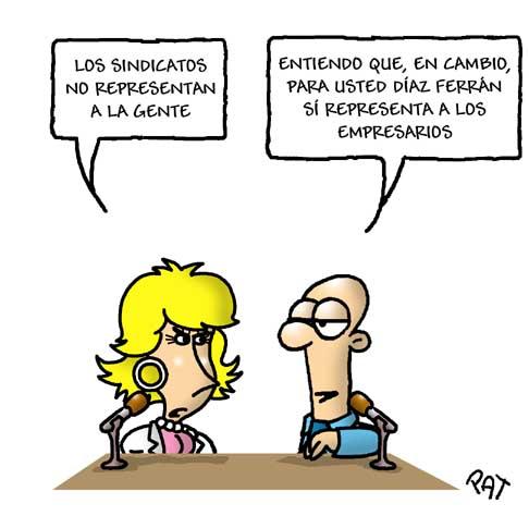 Esperanza Aguirre contra los sindicatos