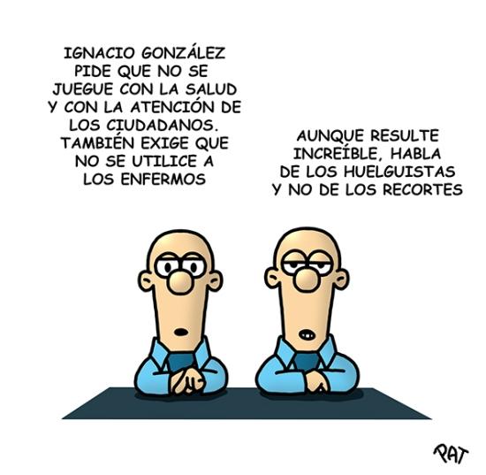 Ignacio Gonzalez huelga
