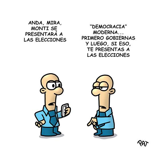 Monti elecciones