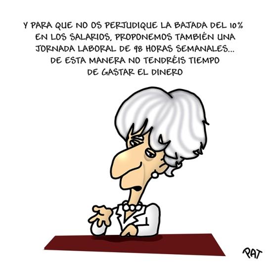 Lagarde salarios