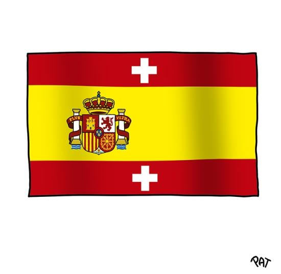 Bandera Espana Suiza