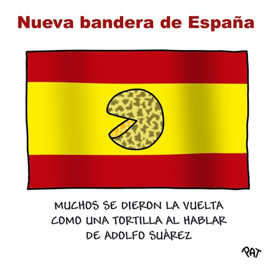 Adolfo Suarez bandera